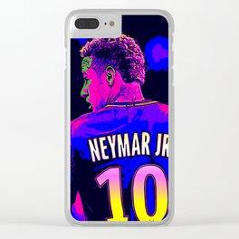 Neon Neymar Clear iPhone Case