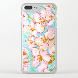 Cherry Blossom - painting by C. Stefan - ArtStudio29 Clear iPhone Case