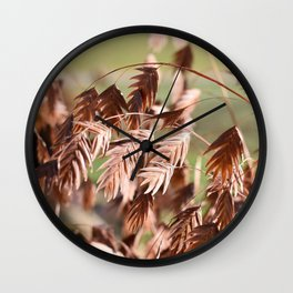 Closeup of brown (dried) plants outdoor Wall Clock
