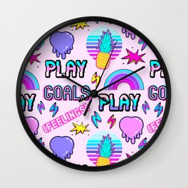 [Feelings] II (stickers pattern) Wall Clock