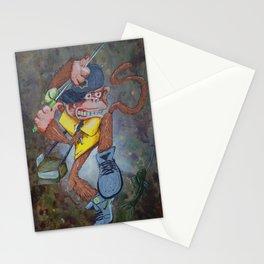 Fisherman Monkey Stationery Cards