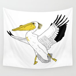 Petra the Pelican Wall Tapestry