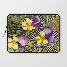 Pansies Laptop Sleeve