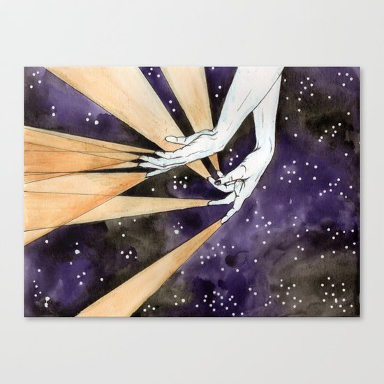 magic fingers in space Canvas Print