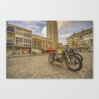 bmw Canvas Prints featuring Dunkerque BMW by Rob Hawkins Photography