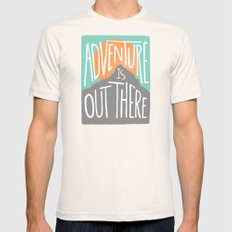 Adventure Is Out There Natural Mens Fitted Tee SMALL