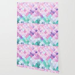 Mermaid Sweet Dreams, Pastel, Pink, Purple, Teal Wallpaper