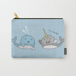 Horny Narwhal Carry-All Pouch