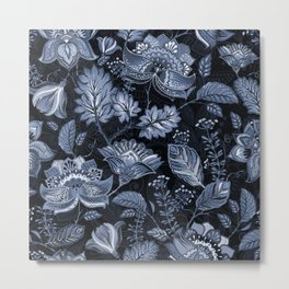 Blooms in the blue night Metal Print