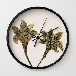 Indian Lily Daffodil Wall Clock