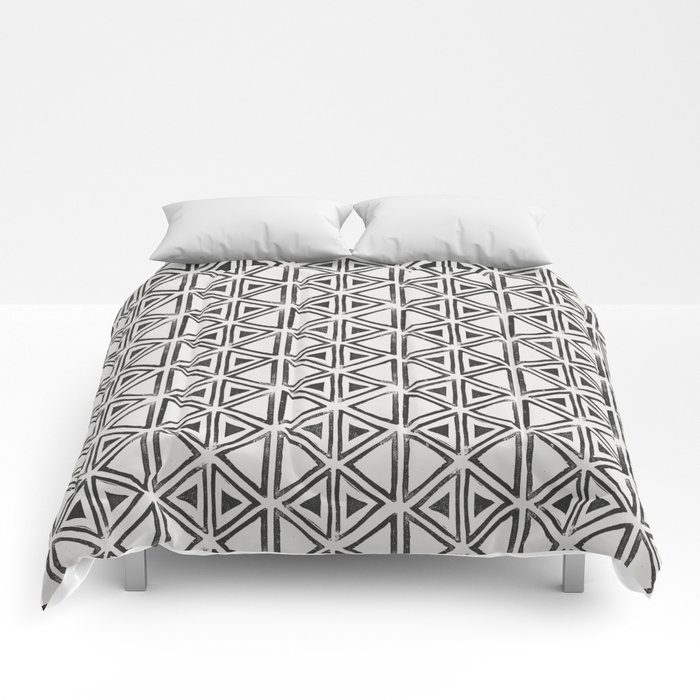 Block Print Diamond Comforters