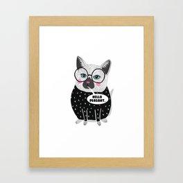 Whistleburg - Jerk Cat Framed Art Print