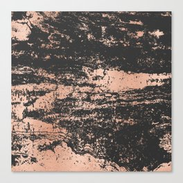 Marble Black Rose Gold - Dope Canvas Print