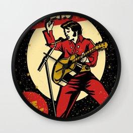 Elvis -Retro Las Vegas Poster Wall Clock