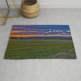 Sunset in the English countryside Rug