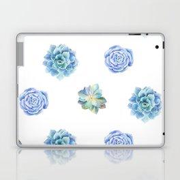 Bue and gren succulents pattern Laptop & iPad Skin