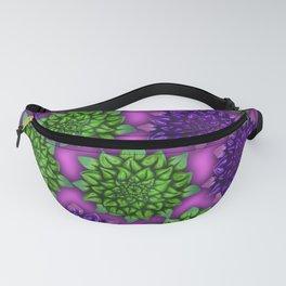 Focus purple green pattern Fanny Pack