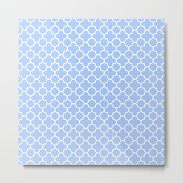 Pale Blue Moroccan Style Design Metal Print