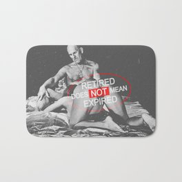 Sexy and funny erotic scene between a naked man and woman Bath Mat
