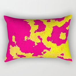 Map fuchsia and yellow Rectangular Pillow
