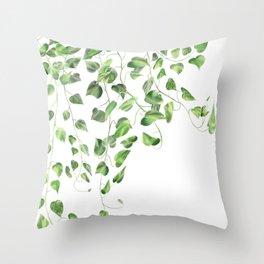Golden Pothos - Ivy Throw Pillow