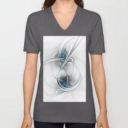 Come Together, Abstract Fractal Art Unisex V-Neck