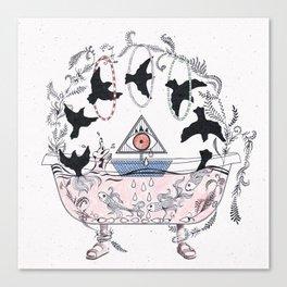 Psychic bathtub. Canvas Print