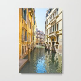 A Gondola Ride through Venice Metal Print