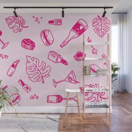 Marta, Pink on Pink Wall Mural