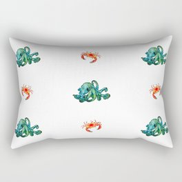 Sea Monsters Rectangular Pillow