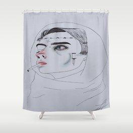 sad boy Shower Curtain