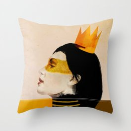 Woman with head decoration Throw Pillow