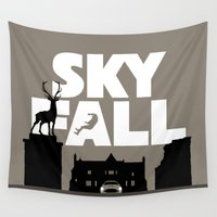 skyfall Wall Tapestries featuring SKYFALL by Vector Vectoria