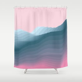 iso mountain Shower Curtain