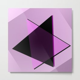 Oh blacky pink ... Metal Print