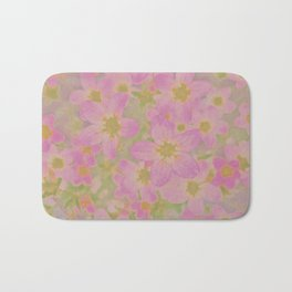 Pink Floral, The Earth Laughs In Flowers Bath Mat
