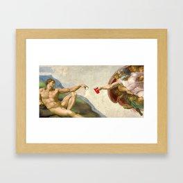 Sistine of Beer Pong Framed Art Print