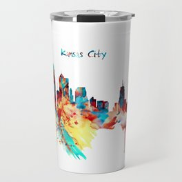 Kansas City Skyline Silhouette Travel Mug
