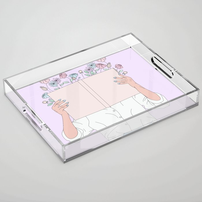 Read All About It Acrylic Tray