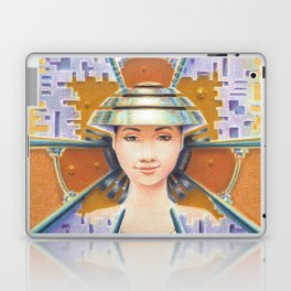 Portrait with chromed Non La Laptop & iPad Skin