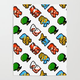 Final Fantasy (NES) pattern Poster