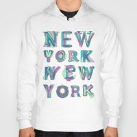nyc Hoodies featuring NYC by Fimbis