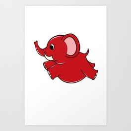 Plumpy Elephant Art Print