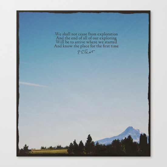 T.S. Eliot: Exploration Canvas Print