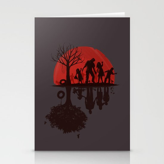 A Family Once (dark version) Stationery Cards