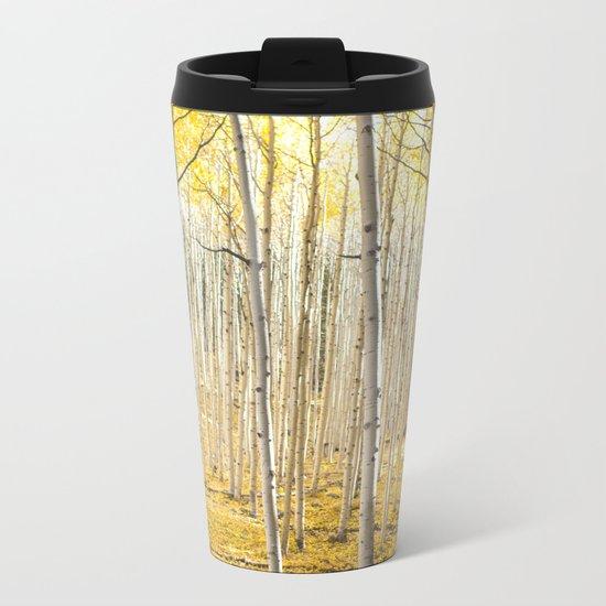 Fall Colors, Yellow Woods Metal Travel Mug
