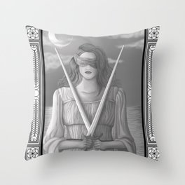 Two of Swords Throw Pillow