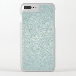 Gray Blue Retro Geometric Waltz Clear iPhone Case