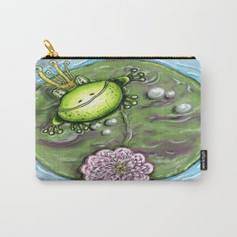 Frog Prince on His Lily Pad Carry-All Pouch