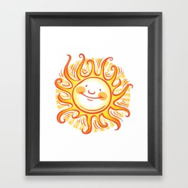 Happy Sun Framed Art Print